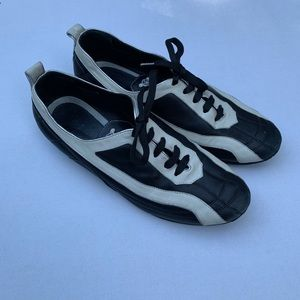 Celine Black and cream leather sneakers 38EU